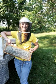 Good to be Queen: ISU student from Clermont finds sweet profit in beekeeping - Gabrielle Hemesath caught the beekeeping bug at an early age when she went to work with a commercial beekeeping operation.