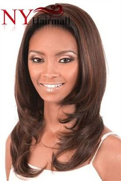 Motown Tress Synthetic Straight Style Lace Front Wig - L.Cobi