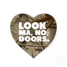 Look Ma No Doors - Jeep Camouflage Heart Stickers jeep girl jeepin it's a jeep thing