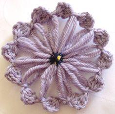 Flor Telares: Cluster Stitch Flower V2 Tutorial ✿Teresa Restegui http://www.pinterest.com/teretegui/✿