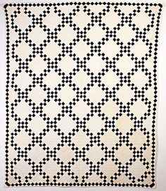 Indigo Criss Cross Quilt: Circa 1880; New York