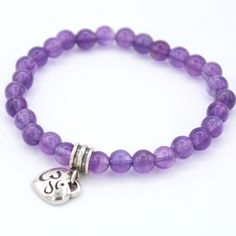 Amethyst Stretch Bracelet Crown Chakra, The Crown, Peace Of Mind, Stretch Bracelets, Stretches, Amethyst, Strength, How Are You Feeling, Mindfulness