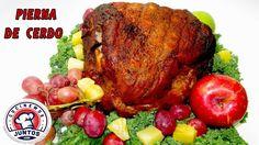 Pierna de cerdo o pernil al horno con salsa dulce