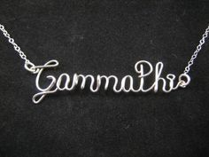 Gamma Phi Beta Sterling Silver Necklace on etsy!