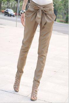 1x1.trans Newest Fashion Women Pants Casual Bowknot Harem Pants