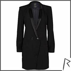 #RihannaforRiverIsland Black Rihanna tuxedo dress. #RIHpintowin click here for more details >  http://www.pinterest.com/pin/115334440431063974/