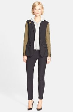 Veronica Beard Army Jacket with Removable Hooded Dickey available at #Nordstrom