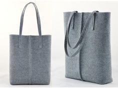 minimaliste gris en feutre sac à main sac cabas grand sac en