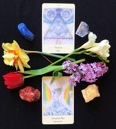 Oracle decorated with flowers - Ulrike Hinrichs cards Magic, Flowers, Cards, Decor, Decoration, Decorating, Dekorasyon, Maps, Dekoration