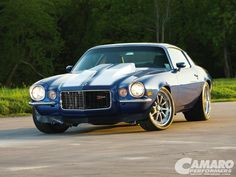 Tim Bowler's '71 Z28 on Forgeline ZX3 wheels, as featured at Super Chevy Magazine. See more at: http://www.forgeline.com/customer_gallery_view.php?cvk=1201  #Forgeline #ZX3 #notjustanotherprettywheel #madeinUSA #Chevy #Camaro #Z28