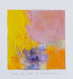 Sep. 21 2017  Original Abstract Oil Painting  9x9 painting