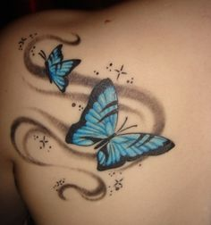 roses with butterflies tattoos | Butterfly tattoos machines
