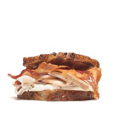 Turkey Sandwich With Cream Cheese and Bacon|