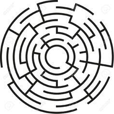 Circular Maze Vector images