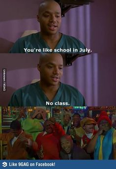 Apply cold water to the burned area.. Scrubs Quote