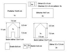 pernikova chaloupka sablona - Gingerbread house pattern