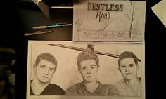 I sketched restless road today!! Andrew Scholz, Colton Pack, Zach Beeken. Restless Road Fan Art. RRFanArt Emily Greeson