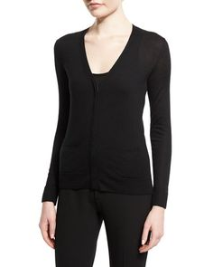 TOM FORD V-Neck Cashmere Cardigan, Black. #tomford #cloth #