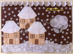 Photo Kids Crafts, Winter Crafts For Kids, Diy And Crafts, Arts And Crafts, Paper Crafts, Painting For Kids, Art For Kids, Christmas Art, Christmas Decorations