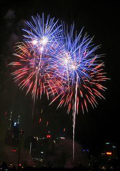 Nashville Fireworks on the 4th of July