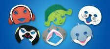 EVA Sea Life Mask 1 of Penguin Shark Dolphin Turtle Clownfish or Sea Lion