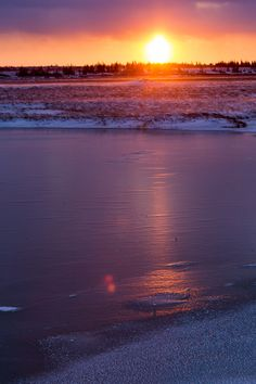 Frozen Churchill Sunset. Photo by Mike Cavaroc.