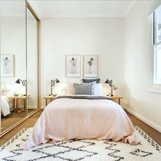 Take a look at the most beautiful small bedroom ideas from award winning interior designer Alexandra Fedorova. Modern design, elegance with small living space.