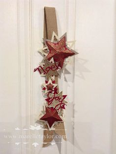 Stampin Up Bright & Beautiful star Christmas hanging decoration. By Marelle