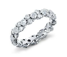 Normally I'd probably say it's too much bling but I love the skinny band. Garland Diamond Eternity Ring in Platinum ct. Eternity Ring Diamond, Diamond Wedding Rings, Eternity Bands, Diamond Bands, Diamond Jewelry, Wedding Bands, Diamond Stone, Wedding Venues, Bling Wedding