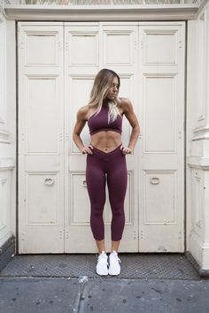 bee96648dc The Berry High Neck Bra   Cropped Leggings by ADANOLA. Gym Games