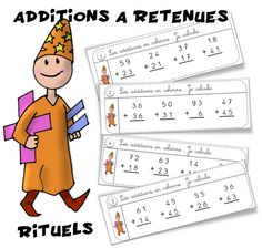 Rituels maths : Additions avec ou sans retenue - Bout de gomme