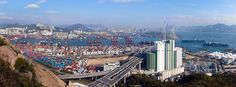 HK's city view Logistics Supply, Container Terminal, Supply Chain Management, San Francisco Skyline, Hong Kong, New York Skyline, City, Travel, Viajes