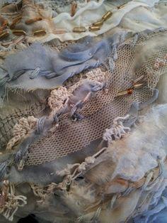Detail. Laura Edgar #textile art