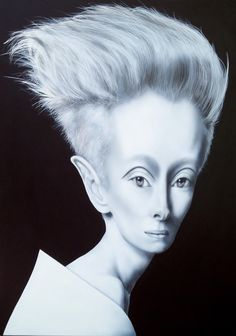 tilda swinton airbrush portrait