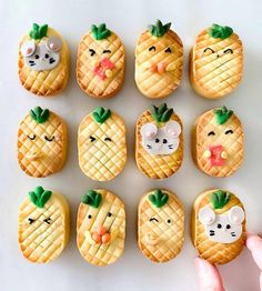 Pineapple Tart, Cute Pineapple, Kawaii Cooking, Kids Cafe, Moon Cake, Bakery Recipes, Cute Cookies, Gluten Free Cookies, Cute Food