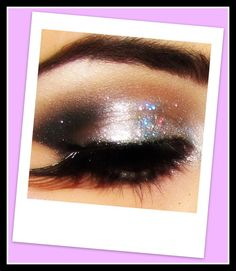 70s makeup Swipe on some sparkle for those eyelids
