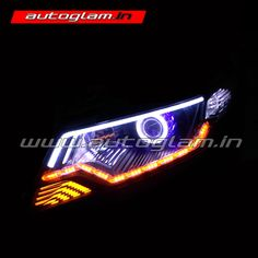 Honda city ivtec Projector Headlamp Provides more downroad visibility. These headlight has also been designed for maximum durability.- BUY NOW FROM AUTOGLAM. Projector Headlights, Car Headlights, Hidden Projector, Honda City, Car Lights, Car Accessories, The Darkest, Store, Auto Accessories