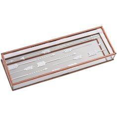 3139e4afd5c Transomnia  Copper   Mirror-Glass Arrow Tray