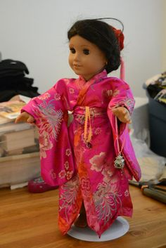 American girl doll clothes Japanese kimono pink by hudathotjewelry