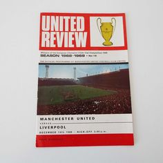 Vintage 1968 Manchester United Versus Liverpool Football Soccer Programme George Best by VintageBlackCatz on Etsy