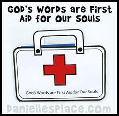 """""""God's Words are First Aid for Our Souls"""" First Aid Kit Craft from www.daniellesplace.com"""