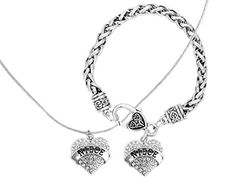 Graduation Gift for Niece Engraved Gift Jewelry For Niece Crystal Adorned Heart Shaped Pendant Necklace  Bracelet Jewelry Set Gift for Mom or Sister Colorless ** Continue to the product at the image link.