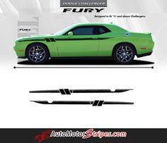 2011-2016 Dodge Challenger Fury Mopar Factory Style Strobe Vinyl Graphics Stripes 3M Decals Package