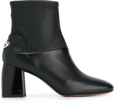 Black leather 'Sidney' boots from Tory Burch.