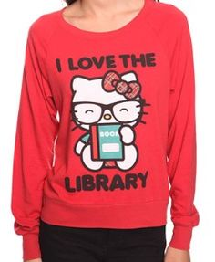 Hello Kitty raglan top: I've never been a fan of Hello Kitty, until I saw this top. Booksters: A celebration of written text in the physical form, these posters are printed with the original text of beloved classics. Pelican spines … Continued