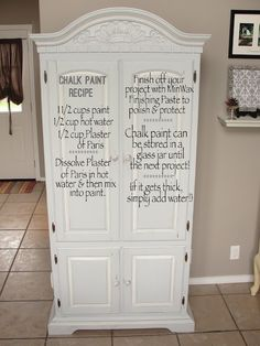 Recipe for Chalk Paint Furniture | Chalk Paint Recipe | Painted Furniture