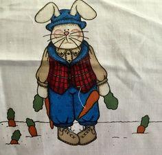 "Bunny Girl Fabric Door Panel to Sew /& Embellish from Daisy Kingdom 36.5/"" 3538"