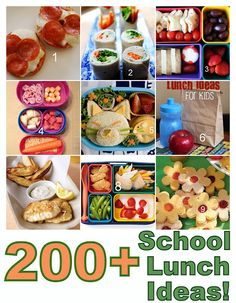 Hill House Rock with Tara Hill: {Back to School} Over 200 School Lunch Ideas!