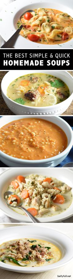 Best Simple & Quick Homemade Soups