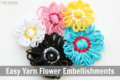 Great way to use up yarn scraps- easy for kids, and really cheap! Full tutorial!